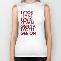 lannister Biker Tanks featuring House Lannister 2 Typography series II by P3RF3KT