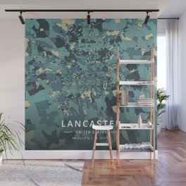Lancaster, United States - Cream Blue Wall Mural