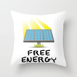 Solar Panel (Sunshine) FREE ENERGY Throw Pillow