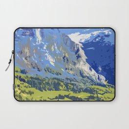 Majestic Blue Green Swiss Mountains Laptop Sleeve