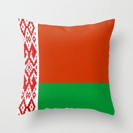 Belarus country flag Throw Pillow