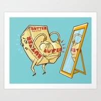 my mad fat diary Art Prints featuring does my butt look fat? by Peter Kramar