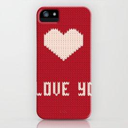 I love you sweater iPhone Case