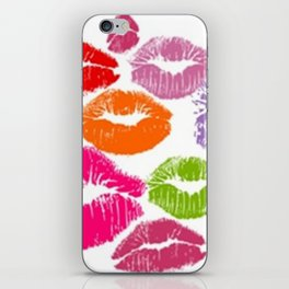 Colorful Lipstick Kisses Lip Color iPhone Skin