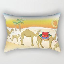 Exodus, Camels in the Desert, Passover Rectangular Pillow