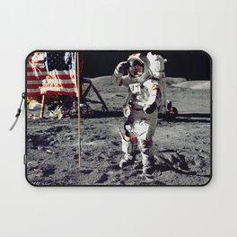 Salute on the Moon Laptop Sleeve