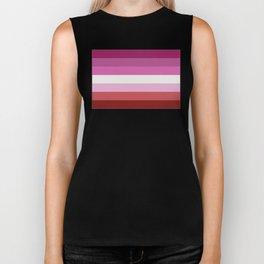 Lesbian Flag Biker Tank