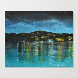 St Thomas at Night Canvas Print