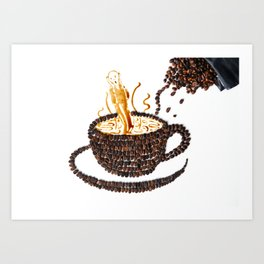 "I ""scream"" for coffee! Art Print"