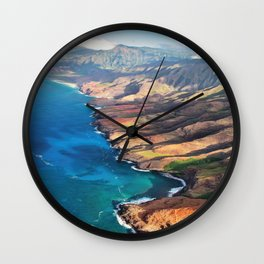 North Na Pali Coast Wall Clock