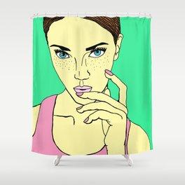 Pastel Girl Shower Curtain