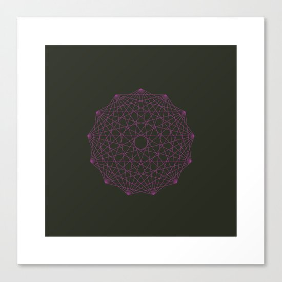 #358 Thirteen pointed star – Geometry Daily Canvas Print