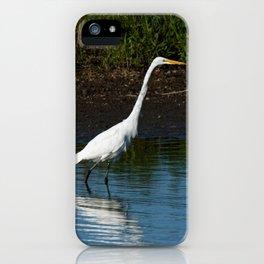 Great Egret on the Shoreline iPhone Case