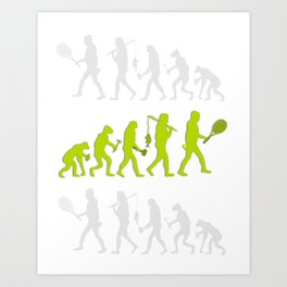 Evolution of Tennis Species Art Print