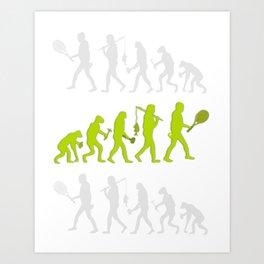 Evolution of Tennis Species Art Print