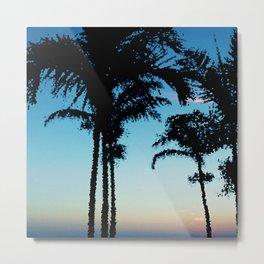 Tropical Summer Palms Metal Print