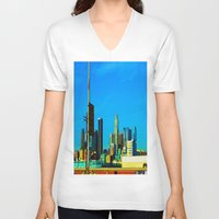 cityscape V-neck T-shirts featuring Cityscape by Life Of A Lens Studios