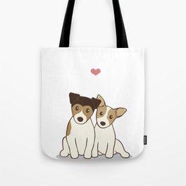 Dogs in Love Illustration Tote Bag
