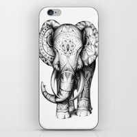 ornate elephant iPhone & iPod Skins featuring Ornate elephant by Creadoorm
