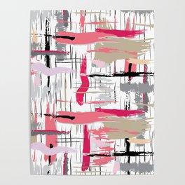Pink Brushstroke Poster