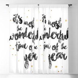 Christmas Happy Quote Blackout Curtain