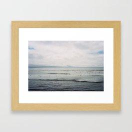 Santa Cruz Surfin' Framed Art Print