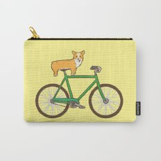 Corgi on a bike Carry-All Pouch