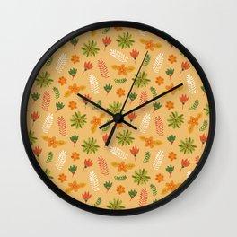 Pop Flower Orange Wall Clock