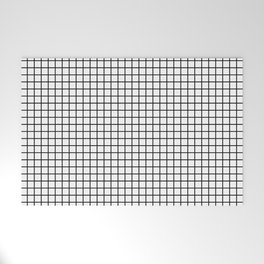 Black and White Grid Graph Welcome Mat