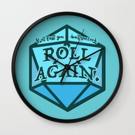Roll Again Wall Clock