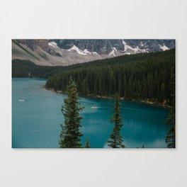 Canoeing Moraine Canvas Print