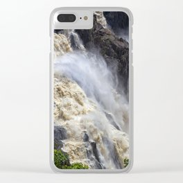 Raging thunder of the waterfall Clear iPhone Case