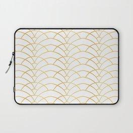 Art Deco Series - Gold & White Laptop Sleeve