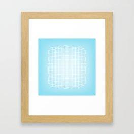 Warped in Blue Framed Art Print