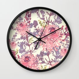 Floral II Wall Clock