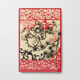 angel bringing a happy holiday message Metal Print