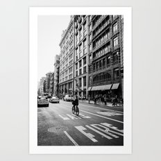 Afternoon Bicycle Ride in Soho - New York City Art Print