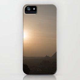 Sunset at Giza Pyramids Giza Egypt Cairo iPhone Case