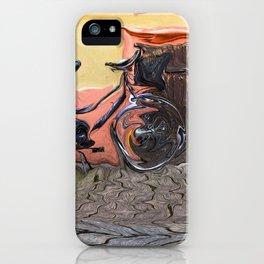 Bicycle On Cobblestone Sidewalk iPhone Case