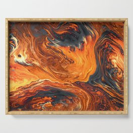 Lava Art Serving Tray