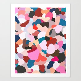 petals: abstract painting Art Print