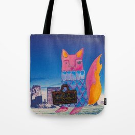 Francis Fox and Her Monogrammed Luggage Tote Bag