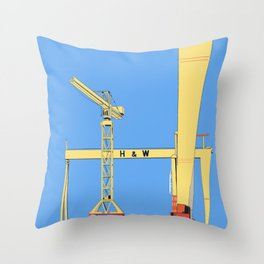 Harland and Wolf Shipyard Belfast Throw Pillow