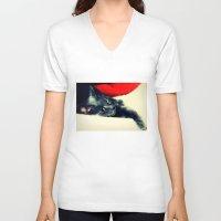 meditation V-neck T-shirts featuring Meditation by Klara Acel