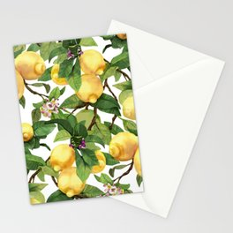Watercolor lemon Stationery Cards