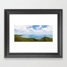 St John panorama Framed Art Print