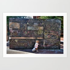 Taking my Chalk and Going Home Art Print