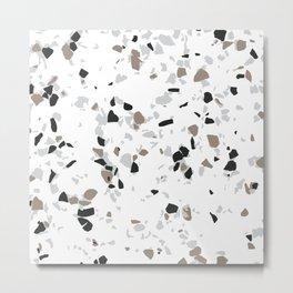 Terrazzo White Metal Print