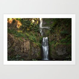 Multnomah Falls, Columbia River Valley, Portland, Oregon. Art Print