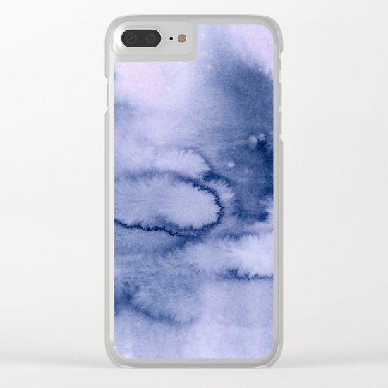 inkblot pastels 1 Clear iPhone Case